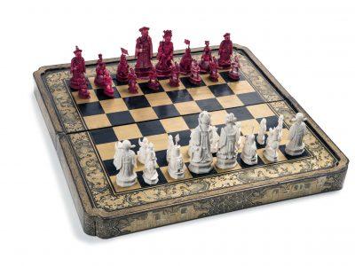 Шахматы китайские. Китай XIX век.